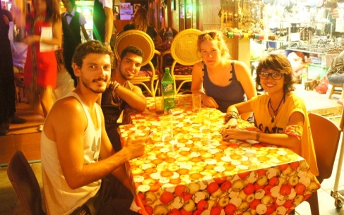 Drinking at Khao San Road