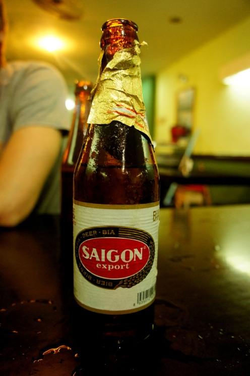 Wasn't really hungry because we had our late lunch, so saigon beer for dinner :D